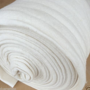 Katahdin, 100% cotton quilters Batting/Wadding, Summer weight, natural colour, per 1/2 metre ~