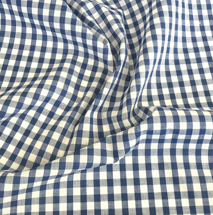 Royal Blue gingham fabric