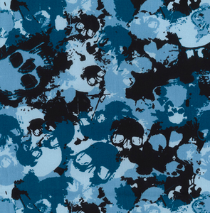 Blue Camouflage Skulls Fabric 100% Cotton Sold Per 1/2 Metre 112cm Wide by Rose & Hubble