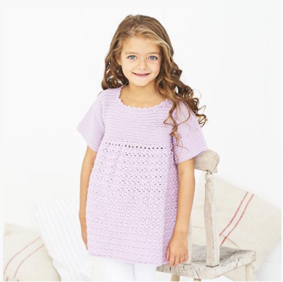 Stylecraft Bambino DK Pattern 9607 Crochet Cabbage Patch Dress