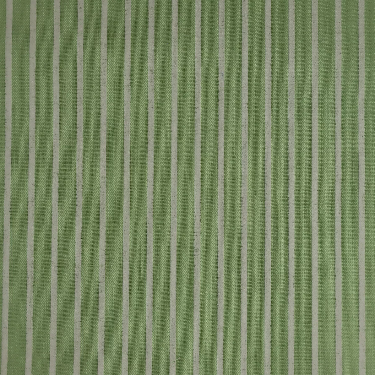 Meadow Green Stripe Polycotton Fabric 112cm Wide Per 1/2 Metre