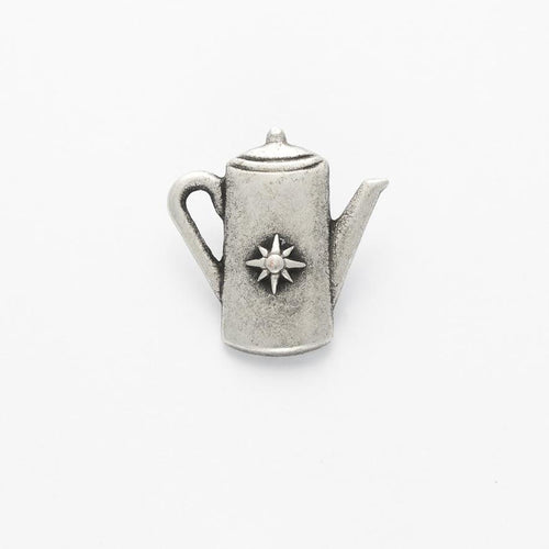 Silver colour metal kettle  button, 20mm, sold per ONE button