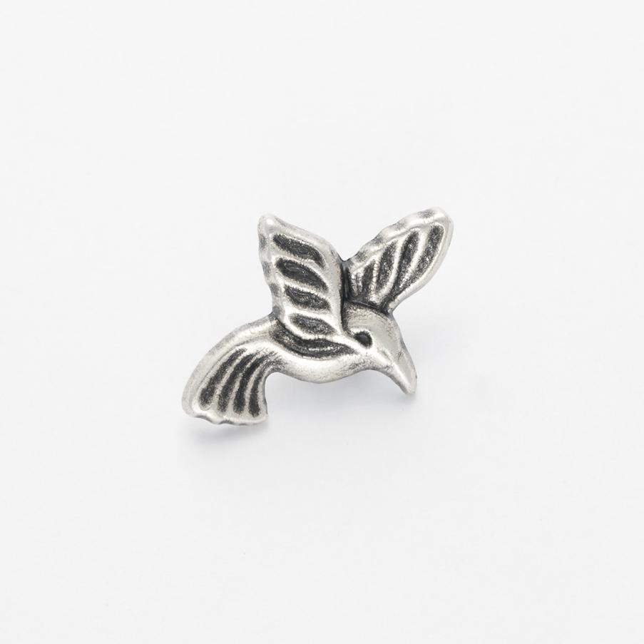 Silver colour bird  button, 23mm x 17mm, sold per ONE button
