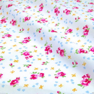 Ditsy Floral Fabric, 3 colours, Cotton Poplin Fabric by the Half Metre.