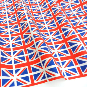 'Great Britain' Union Jack flag cotton fabric by the half metre , 45 inches wide ~