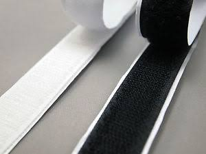 Loop and hook tape, self adhesive, PER METRE Black OR White 20mm Width
