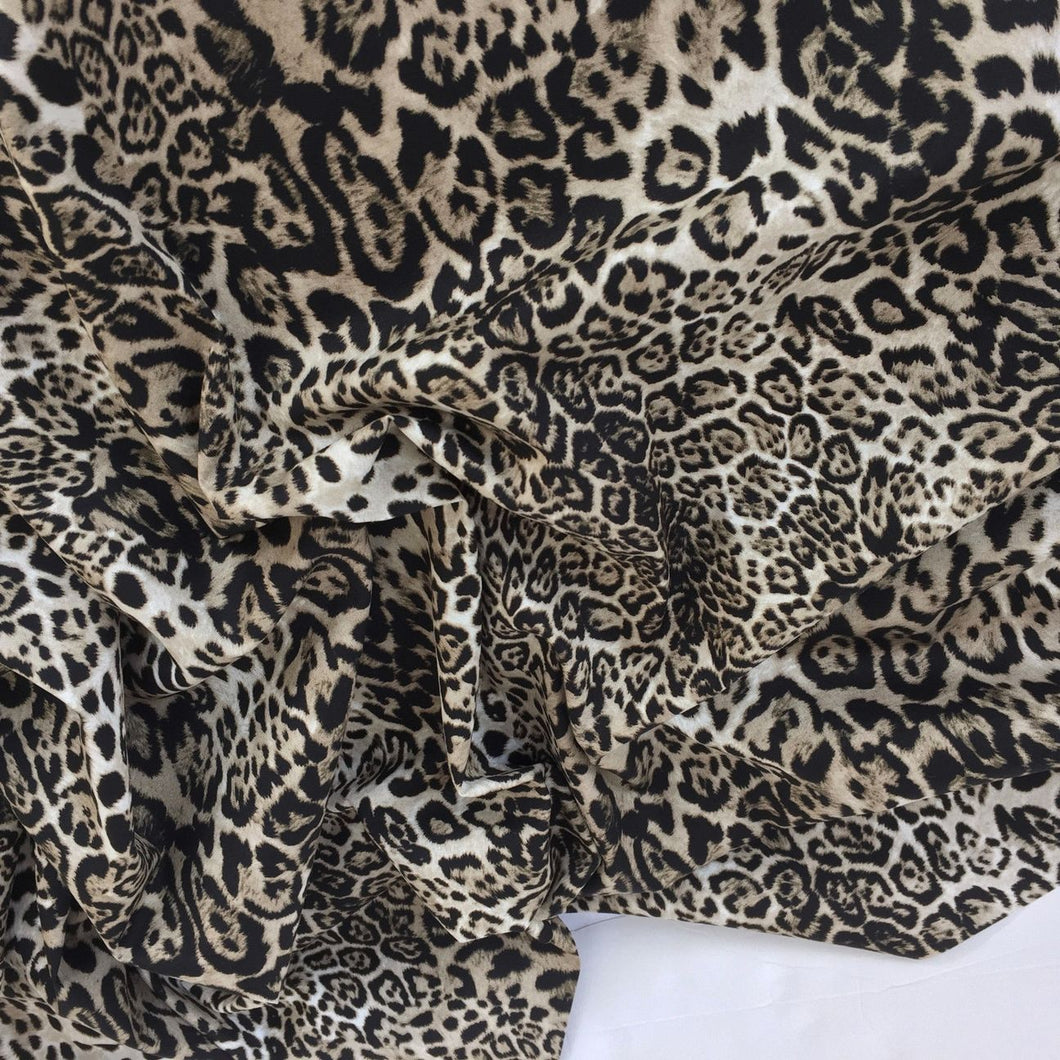 Lynx Animal Print Design, 100% Cotton Fabric by the Half Metre, 112cm wide