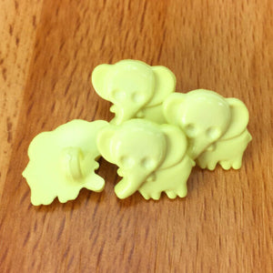 Metallic Silver Elephant Buttons Choice of Pack Size