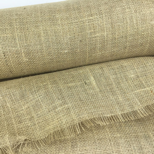Wide Burlap Jute Hessian Fabric by the metre 60 inches wide, 220gsm