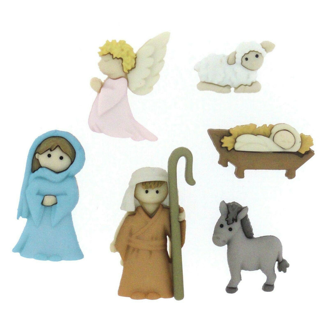 nativity christmas buttons