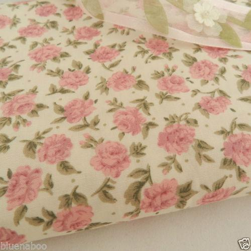 Pink 'CHLOE' floral fabric, 100% cotton poplin fabric sold per half metre, 112cm wide