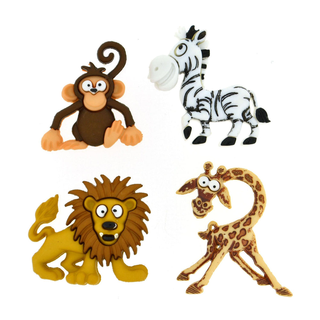 Children's Silly Safari  Animals, Dress it up Buttons ~