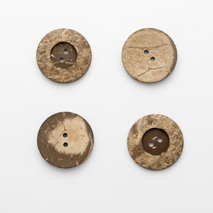 Coconut Shell Buttons, 8 sizes, Natural & Beautiful, SOLD PER ONE BUTTON ~