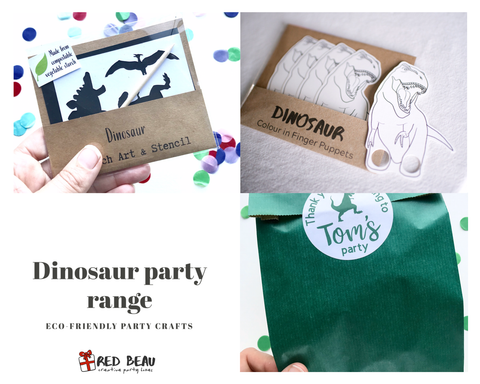 Dinosaur party bag and party favours
