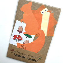 Load image into Gallery viewer, Balancing squirrel craft kit