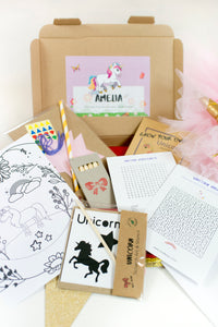 Personalised Unicorn Activity Pack
