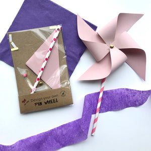 Pinwheel craft activity or party favour