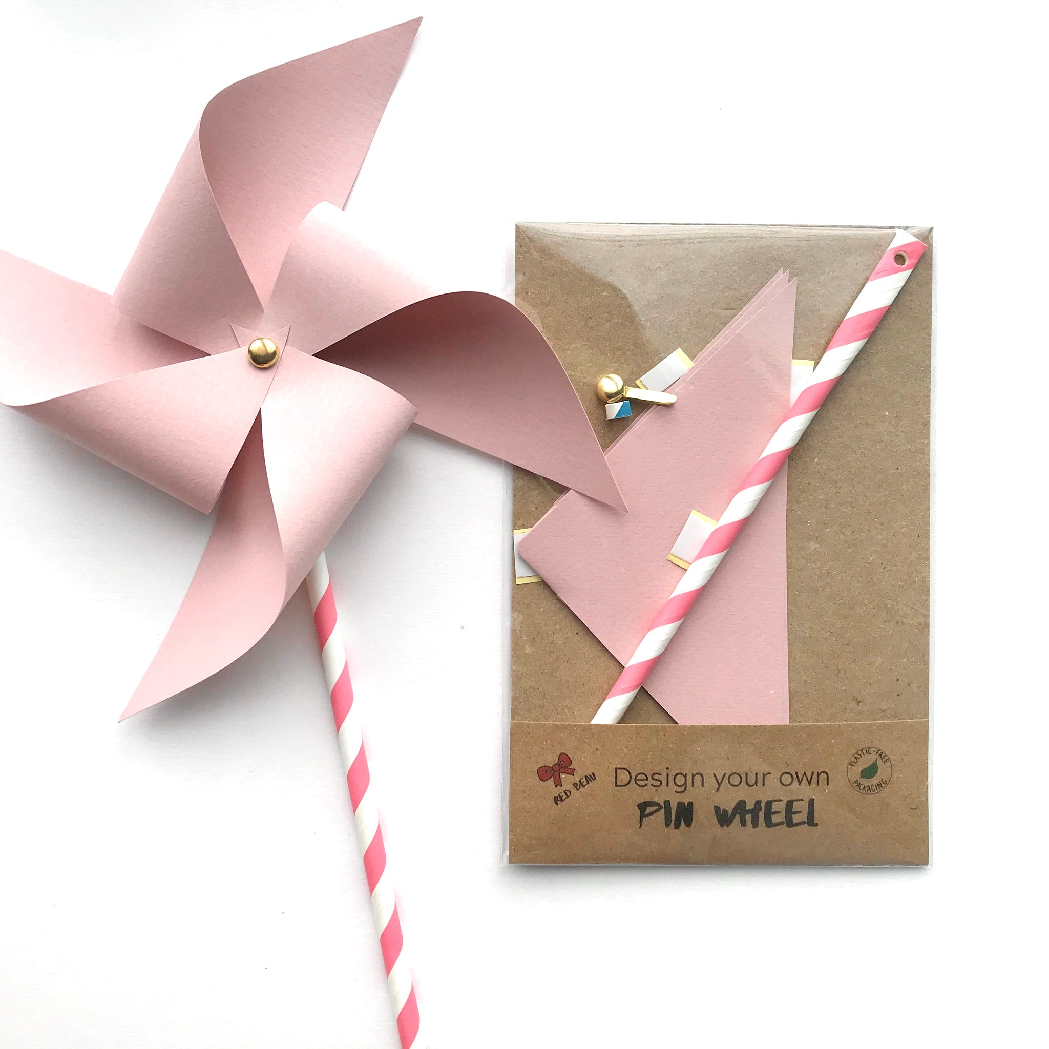 Pinwheel craft activity or party favour – Red Beau