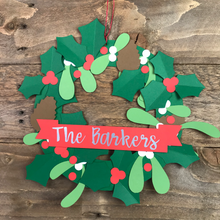 Load image into Gallery viewer, Make your own DIY personalised Christmas wreath kit