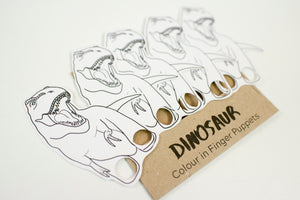 Dinosaur colour in finger puppet
