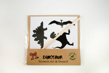 Load image into Gallery viewer, Dinosaur scratch art party craft