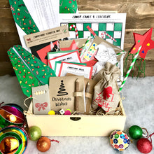 Load image into Gallery viewer, A box full of Christmas games and fun using eco friendly materials for 2 children