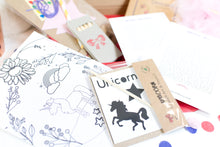 Load image into Gallery viewer, Personalised Unicorn Activity Pack