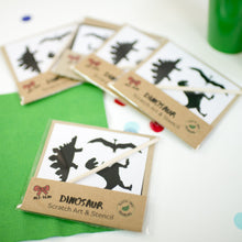 Load image into Gallery viewer, Eco friendly dinosaur party scratch art party bag fillers