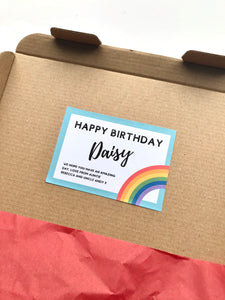 Personalised birthday in a box