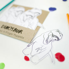 Load image into Gallery viewer, Dinosaur party with eco friendly dinosaur finger puppets