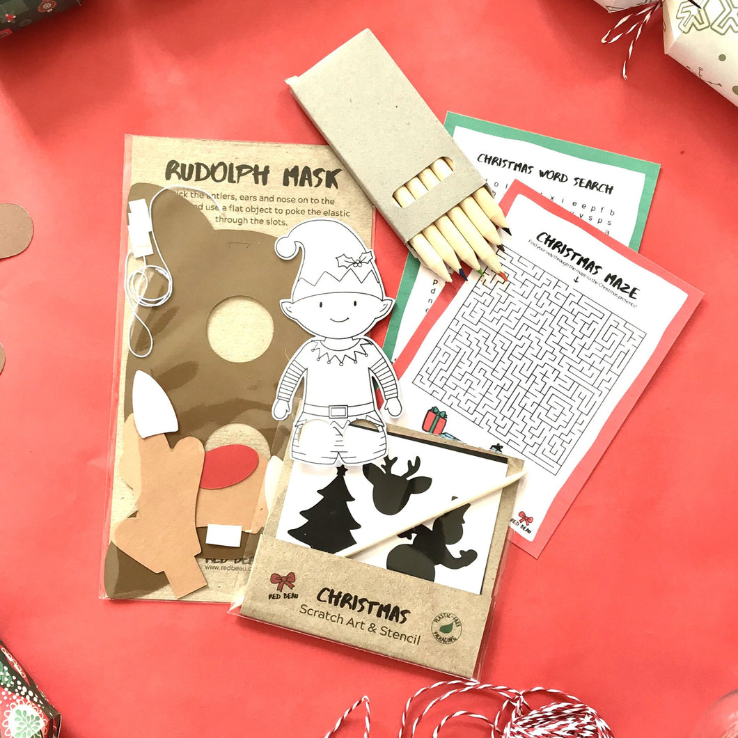 Christmas stocking filler craft selection for kids.