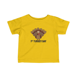 1st Turkey Day Infant Fine Jersey Tee