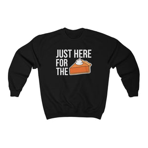 Just here for the Pie Unisex Heavy Blend™ Crewneck Sweatshirt