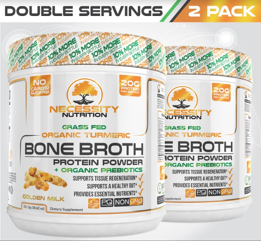 2X Turmeric Bone Broth Protein Powder