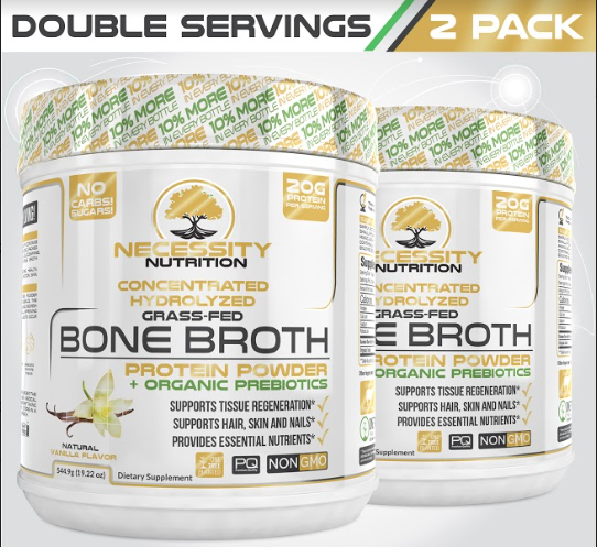 2X Vanilla Bone Broth Protein Powder