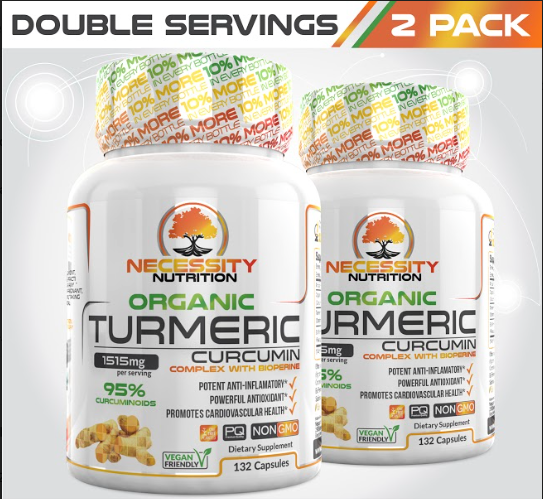 2X Organic Turmeric With Bioperine® 1500mg - 132ct