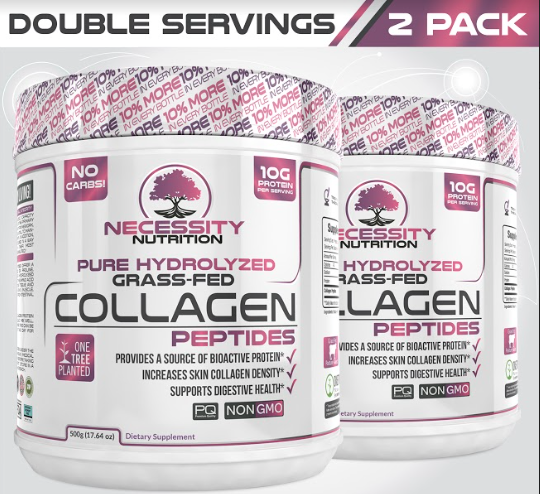 2X Pure Hydrolyzed Collagen Peptides Powder