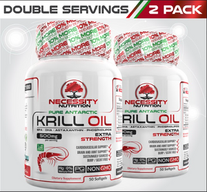 2X Krill Oil 500mg - 50ct