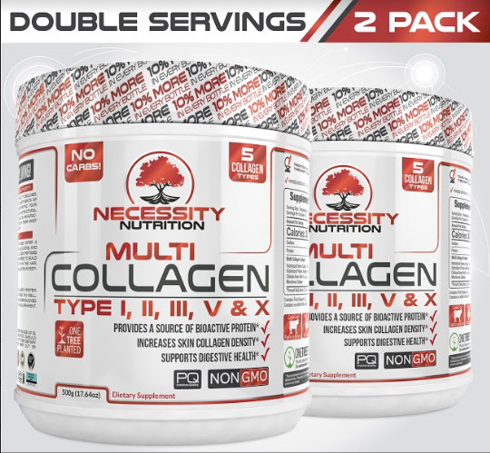 2 Bottles Multi Collagen Protein Powder