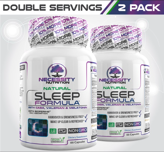2 Bottles Natural Sleep Formula