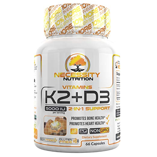 Vitamin K2 D3 Vitamin Supplement 66 capsule pills Vegetarian