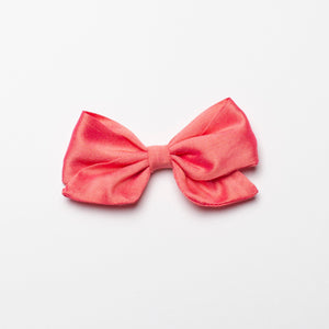 Thai Silk Iridescent Coral Kate Bow