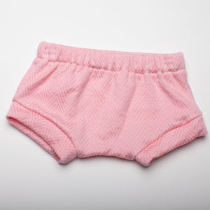 Pink Herringbone Shorties