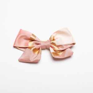 "Pink Stripe Tafetta 3"" Kate Bow"