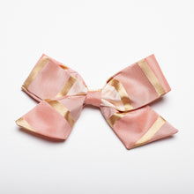 "Load image into Gallery viewer, Pink Stripe Taffeta 5"" Large Kate Bow"