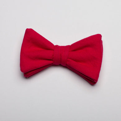 Boys Fushia Cotton Bow Tie