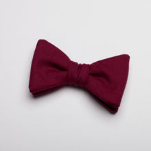 Load image into Gallery viewer, Boys Wine Cotton Bow Tie