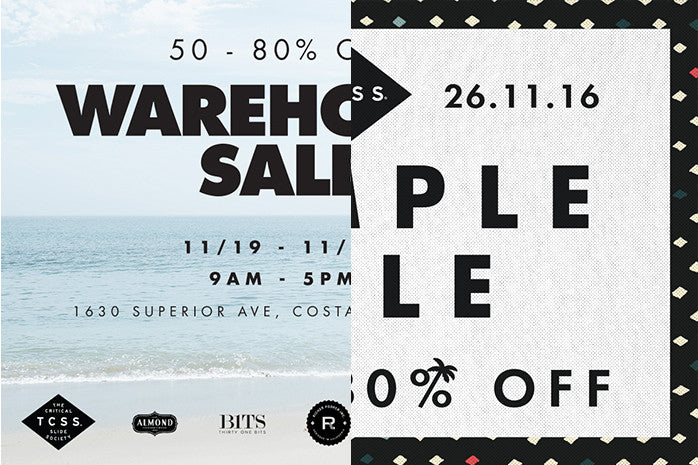 SAMPLE SALES - USA / AUS