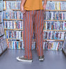 ALL DAY STRIPE PANT - RUST