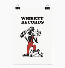 WHISKEY RECORDS PRINT - UNFRAMED